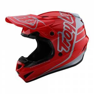 Troy Lee Designs GP Polyacrylite Silhouette Red Silver Motocross Helmet