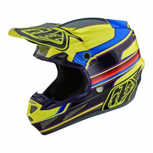 Troy Lee Designs SE4 Composite Speed Yellow Grey Motocross Helmet