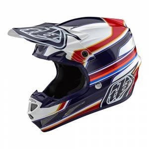 Troy Lee Designs SE4 Composite Speed White Red Motocross Helmet