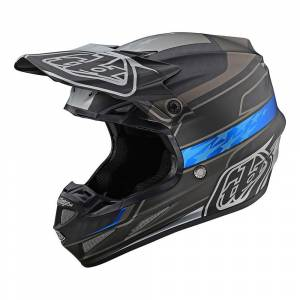 Troy Lee Designs SE4 Carbon Speed Black Grey Motocross Helmet