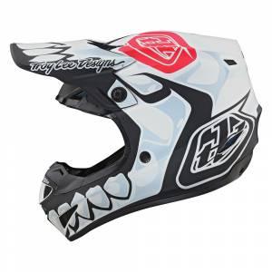 Troy Lee Designs SE4 Polyacrylite Skully White Motocross Helmet
