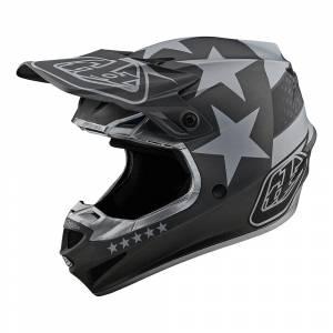 Troy Lee Designs SE4 Polyacrylite Freedom Black Grey Motocross Helmet