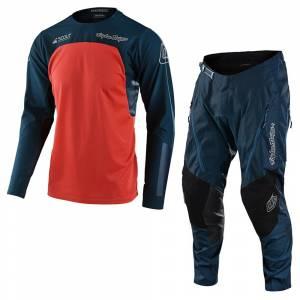 Troy Lee Scout SE Systems Marine Orange Motocross Kit Combo