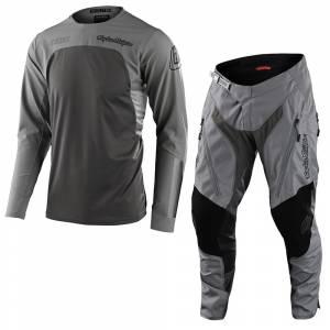 Troy Lee Scout SE Systems Grey Motocross Kit Combo