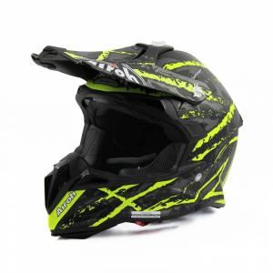 Airoh Terminator Open Vision Carnage Yellow Motocross Helmet