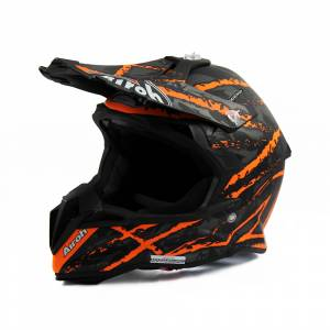 Airoh Terminator Open Vision Carnage Orange Motocross Helmet