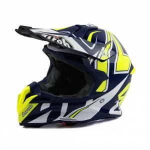 Airoh Terminator Open Vision Shock Blue Motocross Helmet
