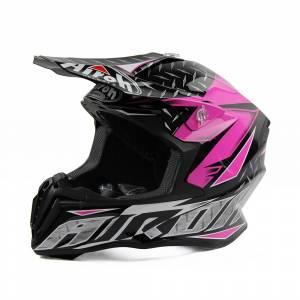 Airoh Iron Pink Twist Motocross Helmet