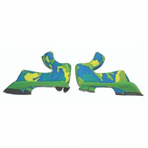 Airoh Twist Blue Yellow Cheek Pads