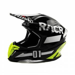 Airoh Twist Racr Black White Motocross Helmet