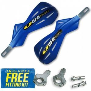 UFO Alu Brush Handguards - Reflex Blue