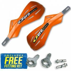 UFO Alu Brush Handguards - KTM Orange