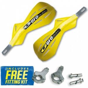 UFO Alu Brush Handguards - RM Yellow