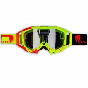 UFO Sirius Neon Yellow Red Black Motocross Goggles