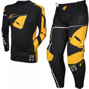 UFO Slim Sharp Black Motocross Kit Combo
