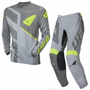UFO Vanadium Grey Neon Yellow Motocross Kit Combo