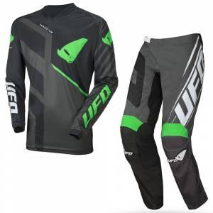 UFO Vanadium Black Neon Green Motocross Kit Combo
