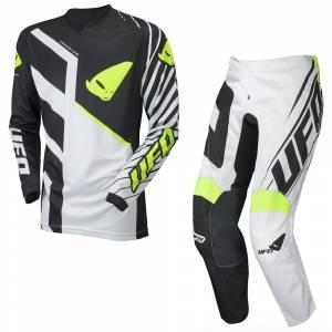 UFO Vanadium Black White Motocross Kit Combo