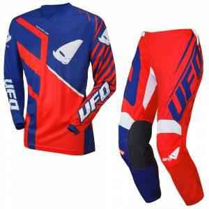 UFO Kids Vanadium Red Blue Motocross Kit Combo