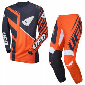 UFO Kids Vanadium Neon Orange Motocross Kit Combo