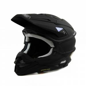 Shoei VFX-WR Plain Black Motocross Helmet
