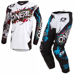 ONeal Element Villain White Motocross Kit Combo