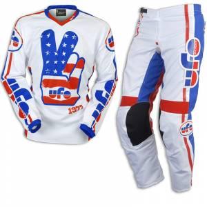 UFO Vintage White Motocross Kit Combo