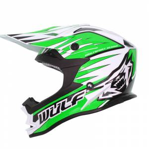 Wulfsport Advance Green Motocross Helmet
