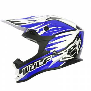 Wulfsport Advance Blue Motocross Helmet