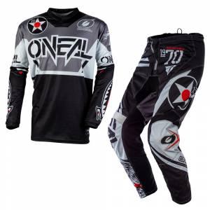 ONeal Element Warhawk Black Grey Motocross Kit Combo