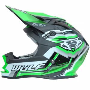 Wulfsport Vantage Green Motocross Helmet