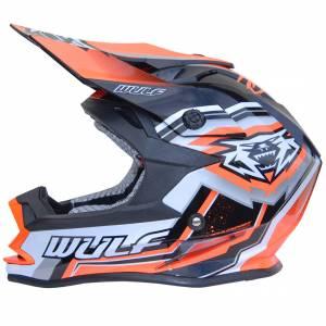 Wulfsport Vantage Orange Motocross Helmet