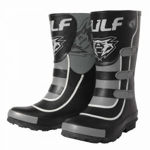 Wulfsport Kids Mud Stomper Black Grey Wellington Boots