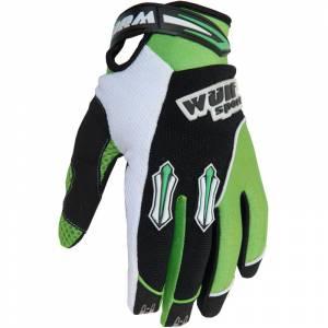 Wulfsport Kids Stratos Cub Green Motocross Gloves