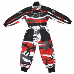 Wulfsport Cub Camo Red Racing Suit