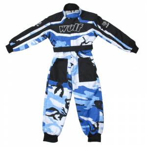 Wulfsport Cub Camo Blue Racing Suit