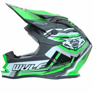 Wulfsport Green Vantage Kids Off Road Helmet