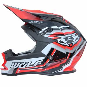 Wulfsport Kids Vantage Red Motocross Helmet