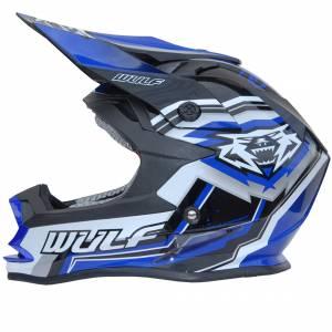 Wulfsport Kids Vantage Blue Motocross Helmet