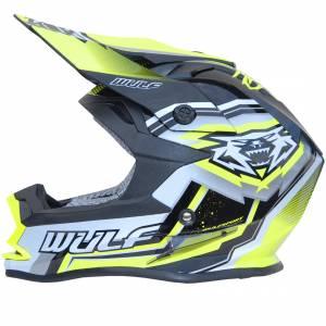 Wulfsport Kids Vantage Yellow Motocross Helmet