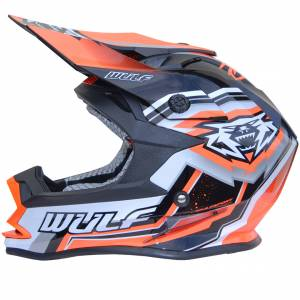 Wulfsport Kids Vantage Orange Motocross Helmet