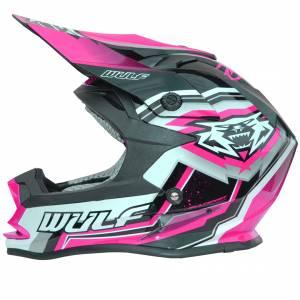 Wulfsport Kids Vantage Pink Motocross Helmet