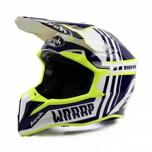 Airoh Wraap Broken Blue Motocross Helmet