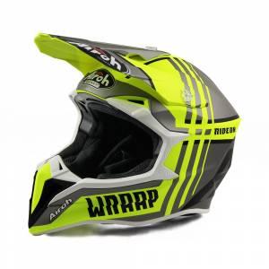 Airoh Wraap Broken Yellow Motocross Helmet