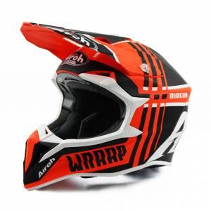 Airoh Wraap Broken Orange Motocross Helmet