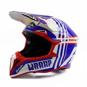 Airoh Wraap Broken Blue Red Motocross Helmet