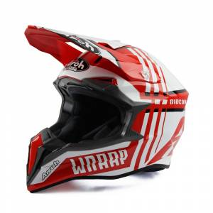 Airoh Wraap Broken Red Motocross Helmet