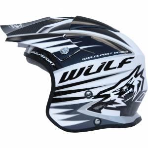 Wulfsport Tri Action White Trials Helmet
