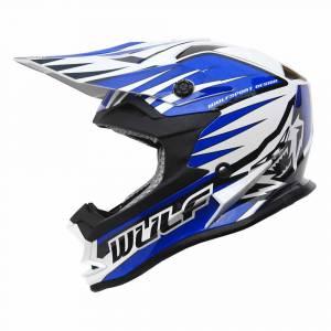 Wulfsport Kids Advance Blue Motocross Helmet