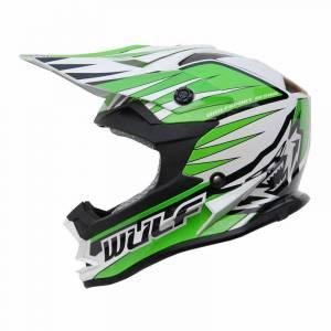 Wulfsport Kids Advance Green Motocross Helmet